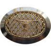 Vintage Cowboy Long Horn Steer Belt Buckle Gold Plated Lattice Chrome LARGE
