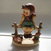 "Vintage Hummel ""Just Resting"" Girl On Fence 112 3/0 Trademark 4 1964-72"