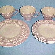 RARE Metlox Pottery Pink ROYAL OAK 8 Misc Pieces