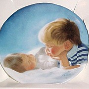 ZOLAN Miniature BROTHERLY LOVE Collector Plate in Box