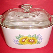 SALE PENDING Corning Ware SUNSATIONS A-3-B Covered Baking Dish Casserole 3 Qt With Lid