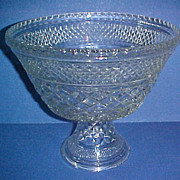 SALE RARE Anchor Hocking Glass Wexford Round Footed Bowl