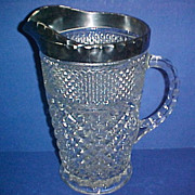 SALE Anchor Hocking Glass Wexford Pitcher Platinum Rim