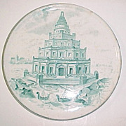 1898 Copeland England Pharos of Alexandria Lighthouse Boats Tea Tile Trivet