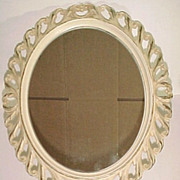 Syroco Standing Vanity Mirror #5121 with Scroll Designs