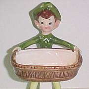 Enesco Pixie Soap Dish Scouring Pad Holder Figurine