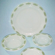 Anchor Hocking Glass Springwood 4 Piece Place Setting