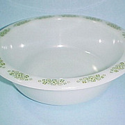 "Anchor Hocking Glass Springwood Large 9"" Vegetable Serving Bowl"