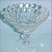 "Westmoreland Glass Thousand Eye 5-1/4"" Stemmed Compote"