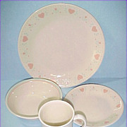 Corning Ware Corelle Beige FOREVER YOURS 4 Piece Place Setting - quantities available