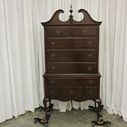 Vintage Chippendale Style Chest on Chest by Boston Maker Paine Furniture NICE