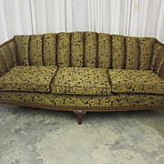 Antique Neo-Classical Sofa w Beautiful Carved Ornate Legs Fresh Upholstery MINT