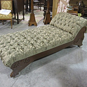 Antique Early 1900's Fainting Couch or Chaise Lounger Fresh Upholstery Beautiful