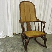 Antique 1800s Cane Rocker Eastlake Style w Bentwood Original Cond Extra Nice!