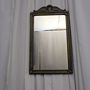 Antique Wood & Gesso Gold Queen Anne Style Frame w Mirror Excellent Condition!