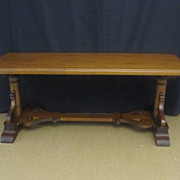 Vintage Mahogany Coffee Table 40� Long 15� Deep Great Condition Beautiful Legs
