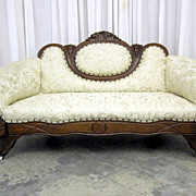 Antique Hollywood Nouveau Style Cameo Sofa w Fresh Upholstery BEAUTIFULLY DONE