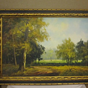 SOLD Vintage Oil on Canvas Signed I Capieri Vivid Color Beautiful Framed Great Cond