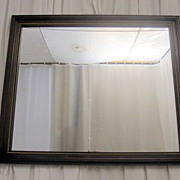 Antique Mahogany Framed Mirror w Gold Bead Trim Nice Original Condition