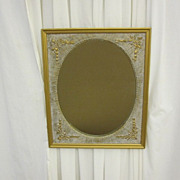 Antique Art Nouveau Style Gold Framed Mirror Great Condition Wood & Gesso LOOK