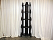 5' Tall Antique Gothic Corner Etagere With 5 Shelf's