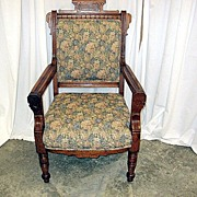 Exceptional 1800's Eastlake Victorian Style Arm Chair