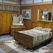 Deco Bedroom Suite-Bed-Dresser-Wardrobe