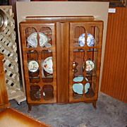 Scully Hand Carved English China Cabinet