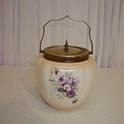 Crown Devon Old Cracker Jar-Made in England