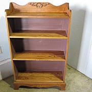 Antique Oak Bookcase Great Condition Adjustable Shelves