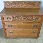 REDUCED Nice Antique Arts & Crafts Chiffonier Chest w 3 Drawers