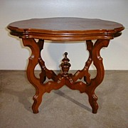Beautiful Oval Ornate Lamp Table