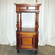 Nice Late 1800 Pine Bedside Cabinet From Holland