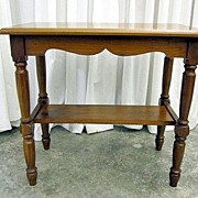 Antique Light Walnut Small Rectangle Side Table Country