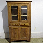 REDUCED Antique Arts & Crafts Kitchen Cabinet Primitive Style