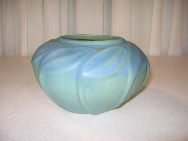 Turquoise Van Briggle Vase- Colorado Springs Markings