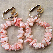 SALE Angel Skin Branch Coral 14KGF Clip Earrings