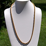 Napier Goldtone Rope Necklace Heavy 30 inches