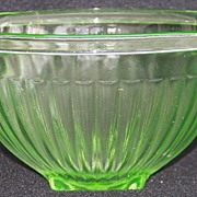 Green  Hocking Ribbed Mixing Bowl