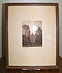 1927 Rosenborg Castle Copenhagen Lithograph Signed