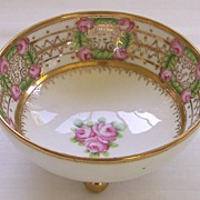 RC Nippon Footed Bowl with Roses - Gilt and Beaded - ca. 1911