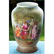 Royal Bayreuth Scenic Tapestry Vase with 3 Ladies