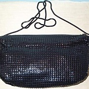 Black Mesh Purse with Unique Shoulder Strap