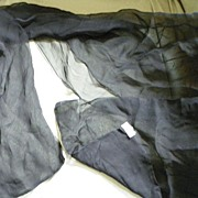 SALE PENDING Black Chiffon Silk and Rayon from Japan Over the Head Scarf