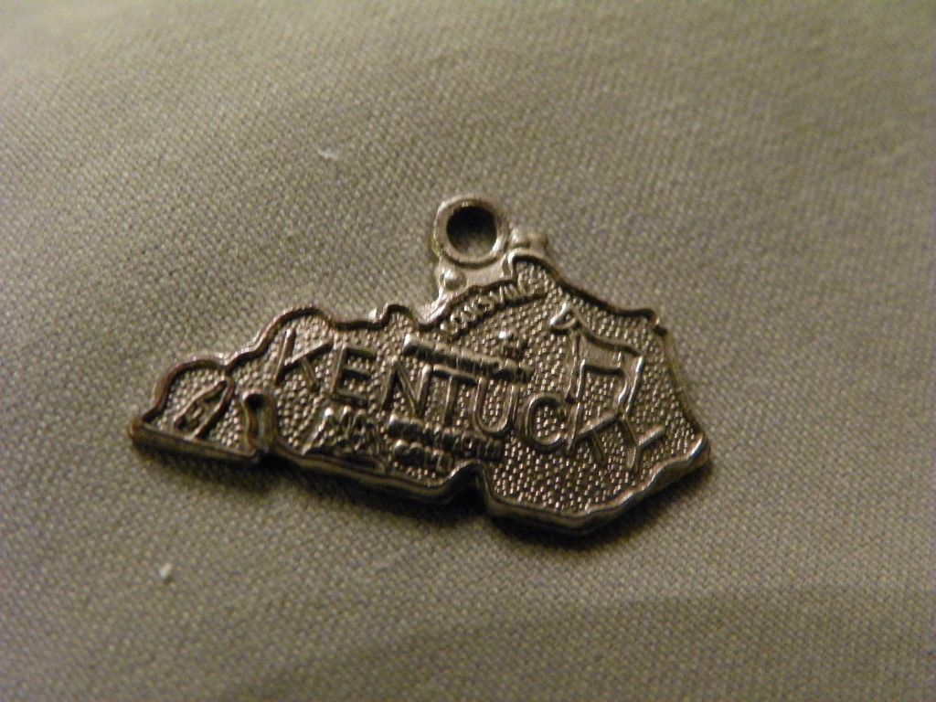 Sterling Silver State of Kentucky Charm marked Sterling Silver