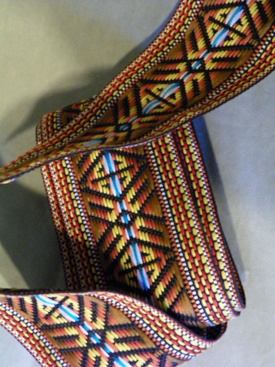 Wide Vintage Woven and Embroidered Sewing Trim 1960's 1970's Tribal