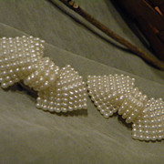 SALE Vintage Faux Pearl Shoe Clips
