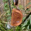 Vintage 1950 Hand Tooled Leather Coin Purse