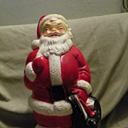 SALE Vintage Empire Plastics 13&quot; Christmas Figural Santa 1968