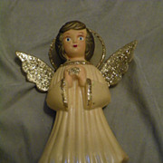 SALE Vintage Doubl Glo Christmas Angel Tree Topper